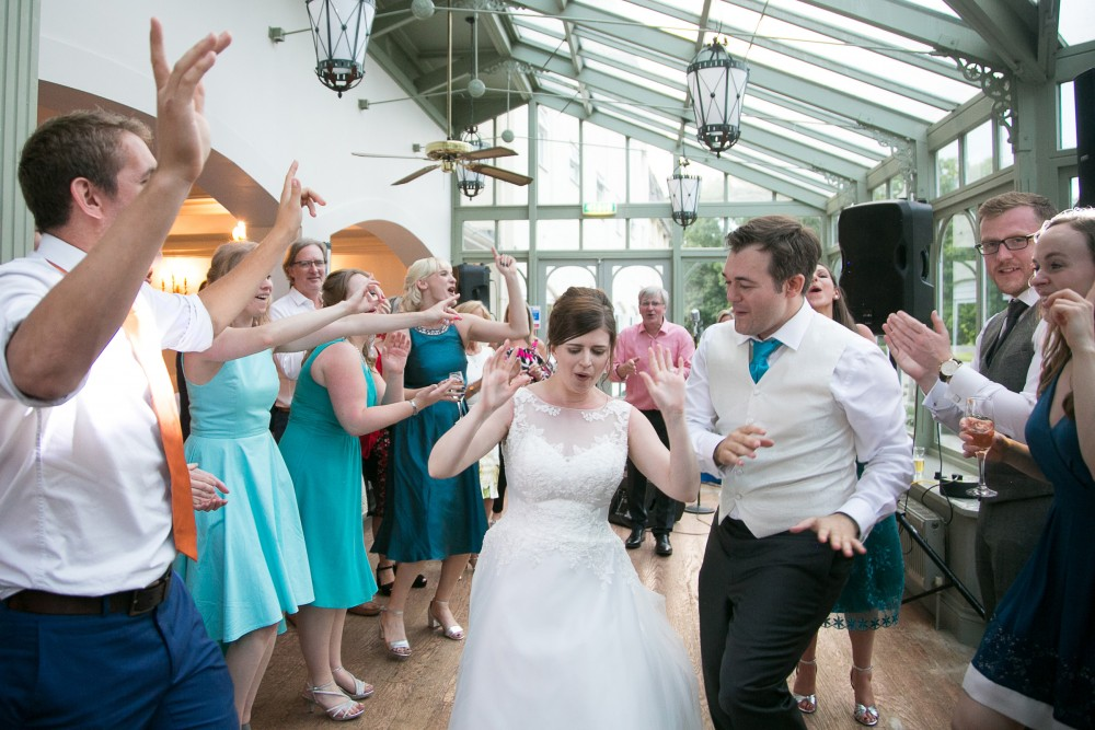 Bride and Groom dancing at Penyard House