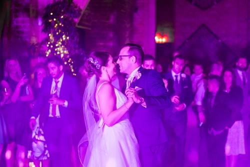 Bride and Groom dancing at Shustoke Farm Barns