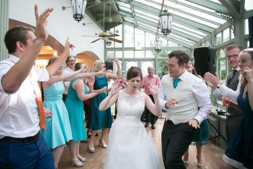 Bride and Groom dancing at Penyard House